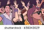 illustration of people partying ... | Shutterstock .eps vector #658343029