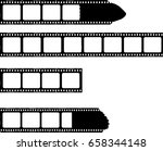 film stripes with photo frames  ... | Shutterstock .eps vector #658344148