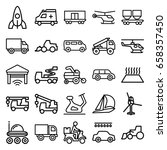 vehicle icons set. set of 25... | Shutterstock .eps vector #658357450