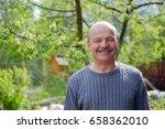 mature man sitting in... | Shutterstock . vector #658362010