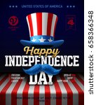 happy independence day party... | Shutterstock .eps vector #658366348