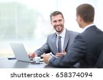 business negotiations. two...   Shutterstock . vector #658374094