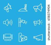 megaphone icons set. set of 9...   Shutterstock .eps vector #658374904
