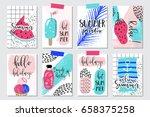 vector set of bright summer... | Shutterstock .eps vector #658375258