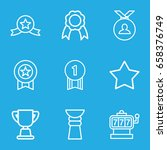 prize icons set. set of 9 prize ...   Shutterstock .eps vector #658376749
