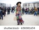 paris march 9  2015. street... | Shutterstock . vector #658381654