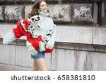paris march 9  2015. street... | Shutterstock . vector #658381810