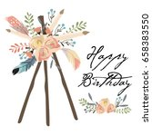 cute cards for banners flyers... | Shutterstock .eps vector #658383550