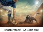 baseball players in action on... | Shutterstock . vector #658385500