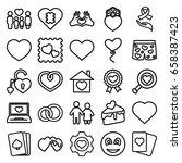 heart icons set. set of 25... | Shutterstock .eps vector #658387423