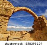 ancient ruins of kourion city... | Shutterstock . vector #658395124