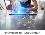 business concept background.... | Shutterstock . vector #658399834