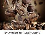 coffee splash  | Shutterstock . vector #658400848