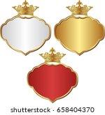 set of isolated royal frames | Shutterstock .eps vector #658404370