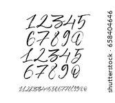 set of vector numbers  from 1... | Shutterstock .eps vector #658404646