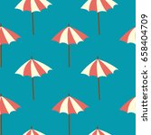 seamless background with beach... | Shutterstock .eps vector #658404709