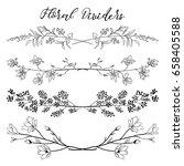 black hand drawn doodle... | Shutterstock .eps vector #658405588