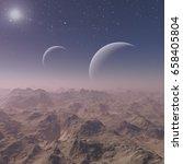 3d rendered space art  alien... | Shutterstock . vector #658405804