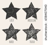 vector stars in a grunge style... | Shutterstock .eps vector #658407040