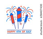 happy 4th of july independence... | Shutterstock .eps vector #658407430