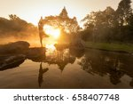 silhouette yoga  asia young... | Shutterstock . vector #658407748