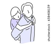 happy father's day when daddy... | Shutterstock .eps vector #658408159