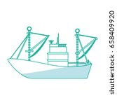 fishing boat isolated | Shutterstock .eps vector #658409920