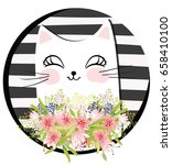 vector cat cartoon character  | Shutterstock .eps vector #658410100