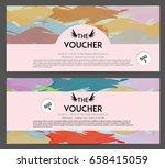 gift voucher template with... | Shutterstock .eps vector #658415059