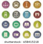 furniture vector icons for user ... | Shutterstock .eps vector #658415218