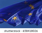 flag of european union against... | Shutterstock . vector #658418026