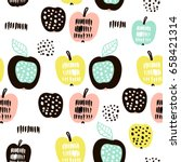 seamless pattern with creative... | Shutterstock .eps vector #658421314