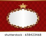royal background with... | Shutterstock .eps vector #658423468