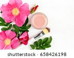 wild rose extract botanical... | Shutterstock . vector #658426198