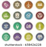bio fuel vector icons for user... | Shutterstock .eps vector #658426228