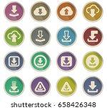 download vector icons for user... | Shutterstock .eps vector #658426348