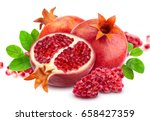 Pomegranate Isolated. Group Of...