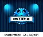 theater sign film roll on... | Shutterstock .eps vector #658430584