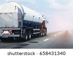 gas or oil truck on highway... | Shutterstock . vector #658431340