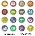 server vector icons for user... | Shutterstock .eps vector #658433530