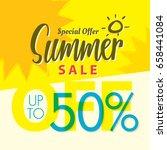 summer sale set v.2  50 percent ...   Shutterstock .eps vector #658441084