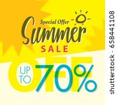 summer sale set v.2  70 percent ...   Shutterstock .eps vector #658441108