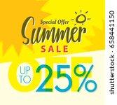 summer sale set v.2  25 percent ...   Shutterstock .eps vector #658441150