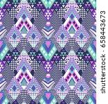 abstract geo zigzag design in... | Shutterstock .eps vector #658443673