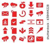 download icons set. set of 25... | Shutterstock .eps vector #658444228
