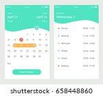 calendar ui element. calendar... | Shutterstock .eps vector #658448860