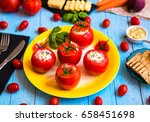 stuffed tomatoes with cheese ...