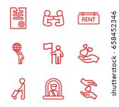 holding icons set. set of 9... | Shutterstock .eps vector #658452346