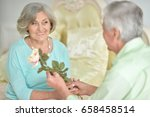 happy senior couple | Shutterstock . vector #658458514