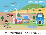 smart farming. farm management... | Shutterstock .eps vector #658470220